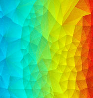 Abstract rainbow polygonal