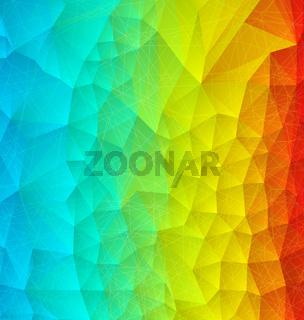 Abstract rainbow polygonal