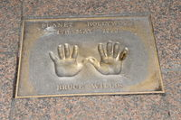 Bruce Willis handprints