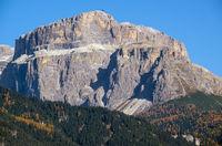 Autumn Dolomites rocky mountain scene, Mazzin, Trentino, Italy
