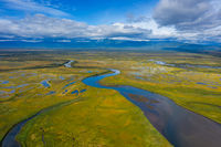 Avacha river delta on Kamchatka