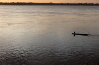 Fisherman  on Mekong river