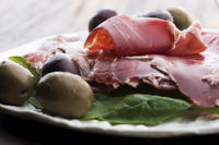 Traditional portuguese dry cured ham, presunto portugues