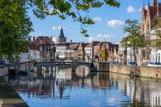View along a Canal in Bruges
