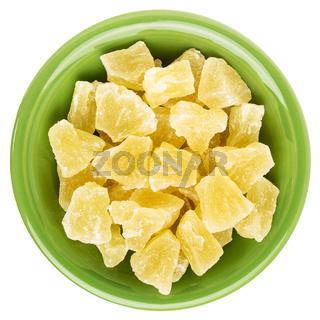 chunks of dried pineapple