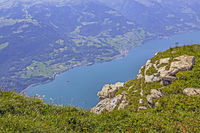 View from Chäserrugg to Walensee, Switzerland