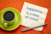 happiness is a state of mind inspirational reminder