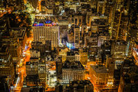 New York night view seen from the Empire State Building