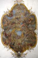 Ceiling fresco in the baroque parish church St. Johann Evangelist, Sigmaringen