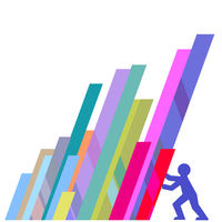 Economy Support - Vector Illustration, Neutral Background