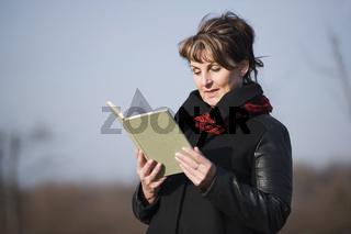 woman reading upper part