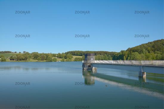 Freilinger See Reservoir near Blankenheim,Eifel,North Rhine westphalia,Germany