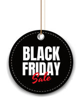 Black Friday Sale Tag Isolated White Background