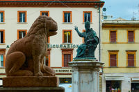 Cavour square in Rimini