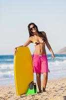 Female bodyboarder