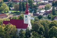 Smolenice Church viewed from Castle Tower
