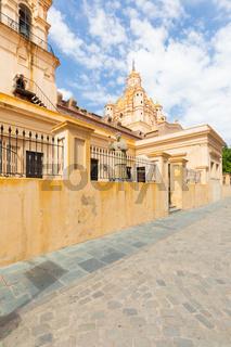 Cordoba Argentina cathedral and bishop Mamerto Esquiu statue