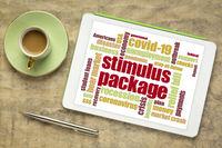 stimulus package during coronavirus pandemic word cloud