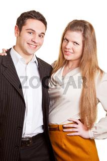 Lachendes Business-Paar