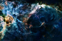Cosmic landscape. Nebula. Elements of this image furnished by NASA