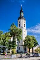 Lübbenau, Deutschland - 23.05.2019 - nikolaikirche in der altstadt