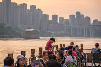 Passengers on a ship during river cruise in Chongqing