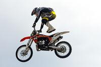 Extreme motocross rider.