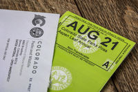 Colorado State Parks annual pass arrived by mail