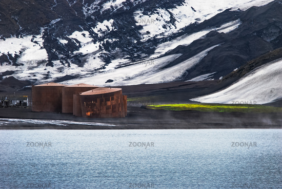 Whalers Base Deception Island, Antarctica