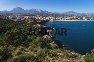 Mediterranean landscape with view to Albir in 'Serra Gelada' mountains, Albir, Spain