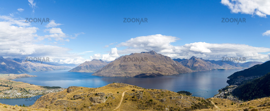 Panoramic View from Queenstown Hill, New Zealand