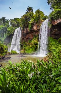 Two powerful rapid waterfalls