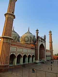 Facade of Jama Masjid, Delhi