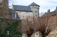 Low angle view at  Stolberg castle in Stolberg, Eifel