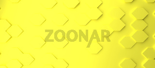 Abstract modern yellow honeycomb background