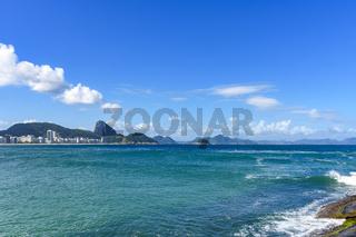 Sunny day at Copacabana beach