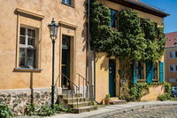 Bernau near Berlin, Germany - April 30th, 2019 - idyll in the old town