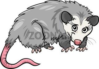 opossum animal cartoon illustration