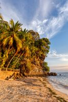 Sunset on Nosy Be island in Madagascar