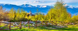 Bansko, Bulgaria spring landscape