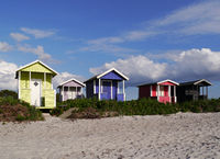 beach huts in sweden