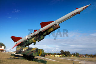 Cuba. Havana. Fortress Morro- Cabana. The exhibition of the Soviet weapon devoted to memory of the Caribbean Crisis (Cuban missile crisis)