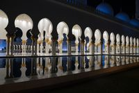 Sheikh Zayed Grand Mosque at night, Abu-Dhabi, UAE
