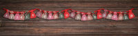 advent calendar bags christmas wood rope gift