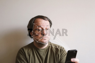 facial recognition by smartphone allows biometric authentication