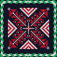 Romanian traditional pattern 156