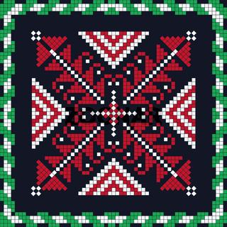 Romanian traditional pattern 156