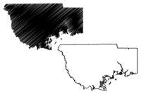 Wakulla County, Florida (U.S. county, United States of America, USA, U.S., US) map vector illustration, scribble sketch Wakulla map