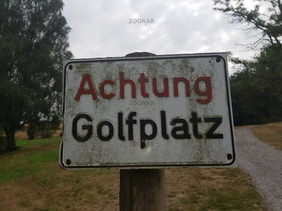Rectangular sign with inscription