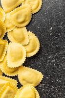 Italian stuffed pasta. Panzerotti pasta